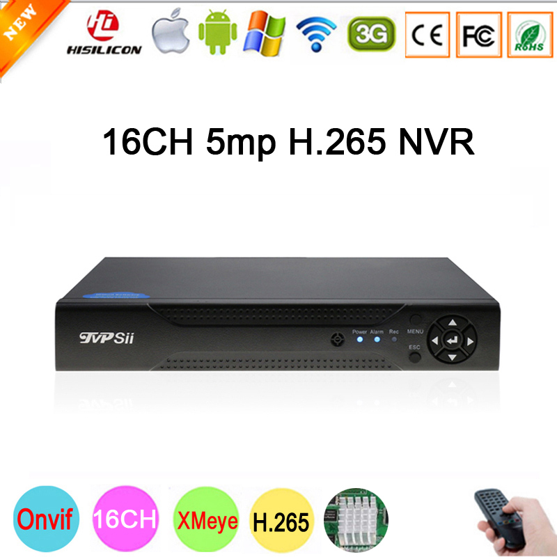 5mp/4mp/3mp/1080p/960P/720P IP Camera Hi3536D XMeye 1CH RCA Audio output H.265 5mp 16CH Onvif IP NVR Video Recorder FreeShipping цены