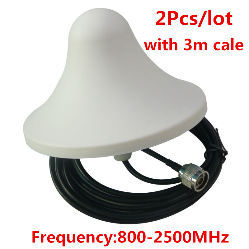800-2500MHz Internal Indoor Antenna With 3 Meters Cable, 5DBi Omni-directional Ceiling Antenna For Mobile Booster Amplifier