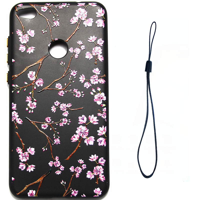 3D Relief flower silicone case huawei p8 lite 2017 honor 8 lite (4)