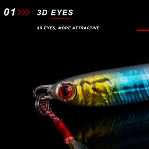Image 4 - NOEBY NBL1001N fishing jigging lure lead casting artificial bait liminous 65mm 80mm for sea freshwater bass fishing accessories