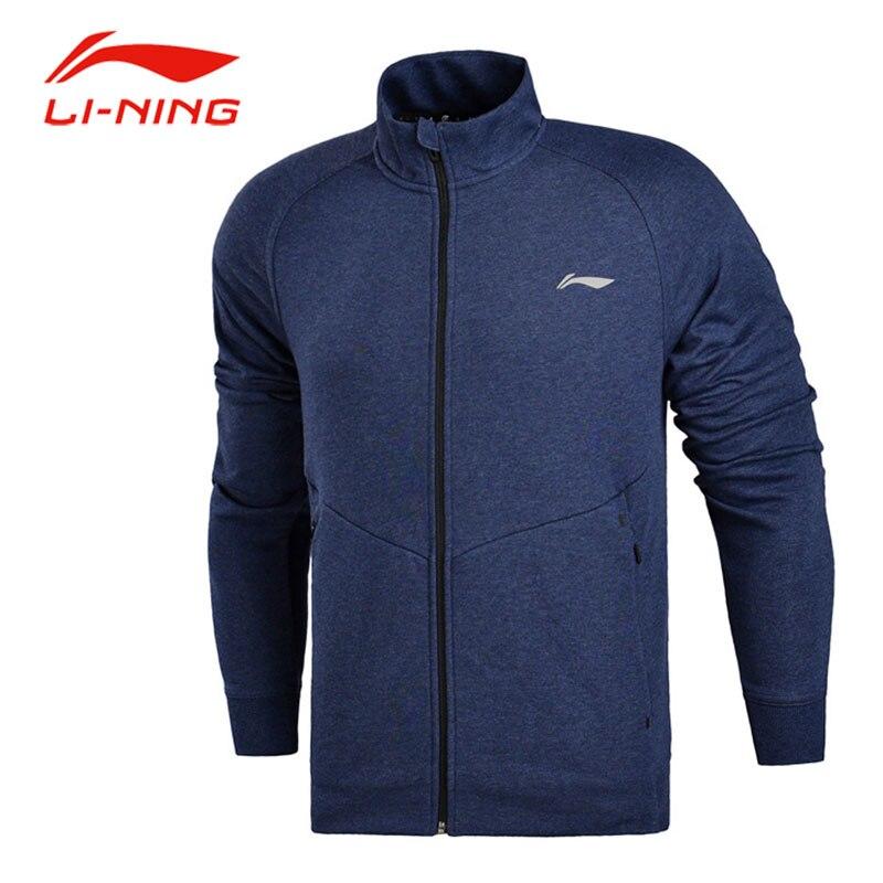 Li-ning hommes automne couleur unie chaud manteaux respirant élastique manteau Li Ning cardigan à fermeture éclair doublure sport Fitness veste AWDM699