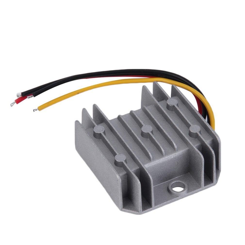 Waterproof DC/DC Voltage Converter Regulator 24V Step Down to 12V 5A Adaptor P25