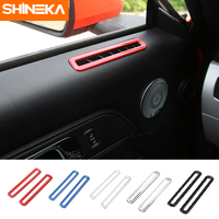 Car Styling ABS Interior Side Door AC Vent Decoration Cover Trim For Ford Mustang 2015