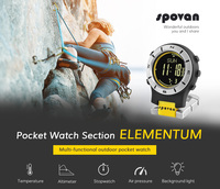 Air pressure curve alarm clock reminds mountaineering altitude temperature compass fishing outdoor multifunctional watch