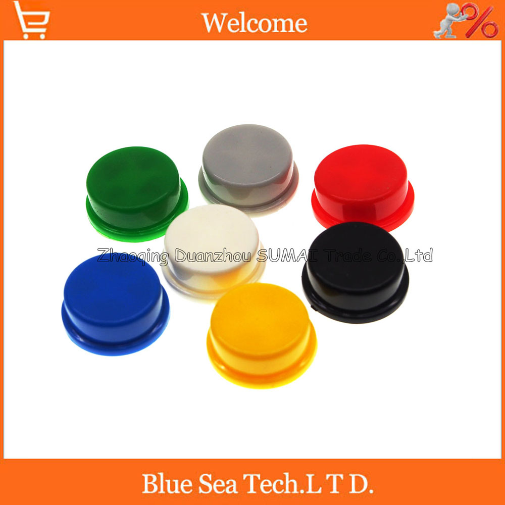 200 Pcs Tactile Push Button Switch Momentary Tact Cap 121273mm Pushbuttons And Latching On Off In Blue White Micro Black Red Yellow