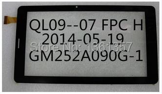 Original novo tablet de tela de toque capacitivo FPC QL09-07 H frete grátis