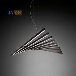 LED Nordic żelaza czarna biała lampka LED LED Light. Pendant Lights. Lampa wisząca. Lampa wisząca do jadalni sypialnia Foyer w Wiszące lampki od Lampy i oświetlenie na