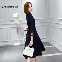 2017 New Spring Female Dress Long Loose Thin Plus Size Feminino Belle Dress Xl 5xl Office