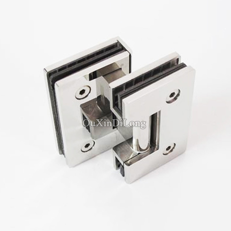BRAND NEW 2PCS/LOT 304 Stainless Steel Frameless Shower Glass Door Hinges Glass to Glass Clamps Clips Freely Pivot Hinges 2pcs wall to glass door hinge stainless steel cabinet glass hinges clamp fit 8 10mm glass door pivot hinge clamps for shower