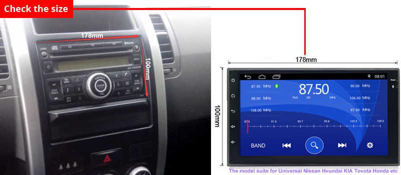 """アンドロイド 8.1 ユニバーサルカーラジオ 7 """"2 喧騒車のラジオ gps アンドロイド 2din カーマルチメディアプレーヤー GPS ナビゲーション WIFI bluetooth MP5"""