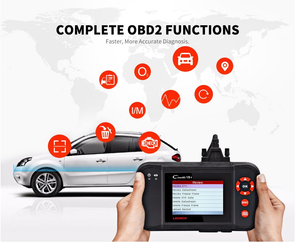 Image 2 - Launch Creader VII+ VII plus Creader CRP123 Diagnostic Tool OBD2 Scanner OBDII Diesel Tools Auto Code Reader ABS Launch Scanner-in Code Readers & Scan Tools from Automobiles & Motorcycles