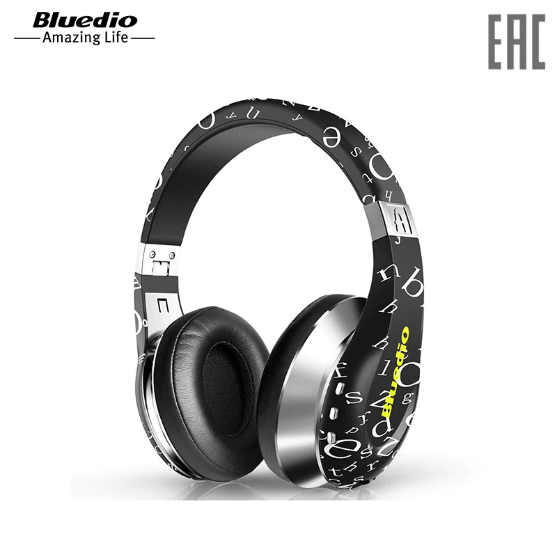 Headphones Bluedio A wireless microphone cosonic ct 760 stereo headphones w microphone black