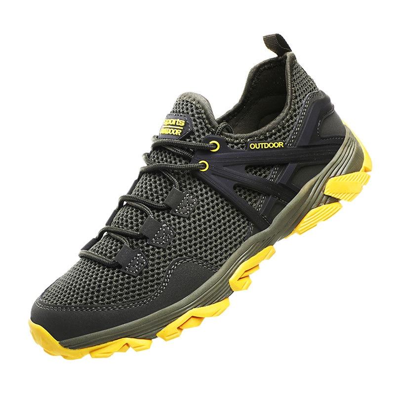 2019 hommes chaussures été Mesh respirant chaussure marche chaussures léger confortable homme baskets grande taille 46 course homme vert