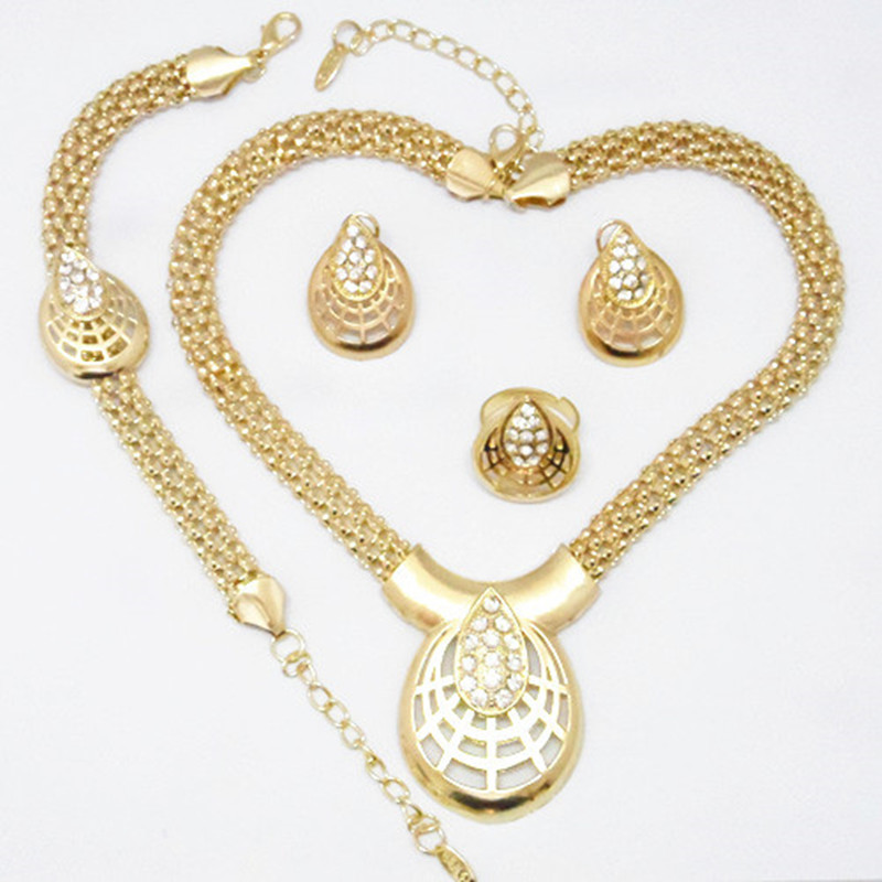 high quality gold color african style fashion womens costume wedding jewelry set