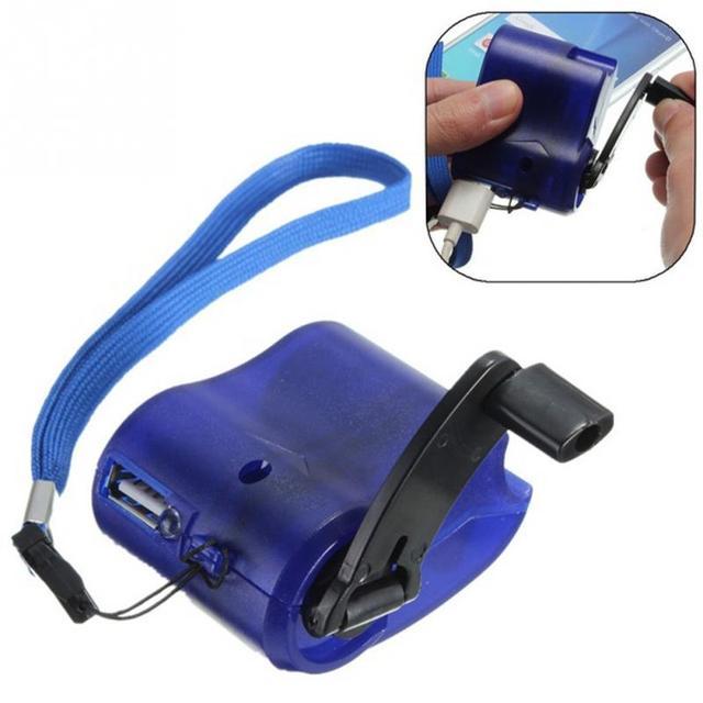 Ngoài trời Khẩn Cấp Di Động Cầm Tay Điện Dynamo Hand Crank Điện USB Sạc Sạc Phổ
