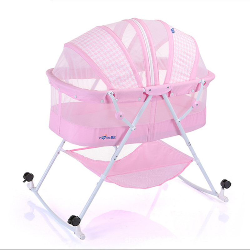 Portable Hanging Baby Crib Netting Newborn Baby Folding Bed Bassinet Convertible Baby Crib Bedding Sets Nursery Furniture Cot nursery furniture kit