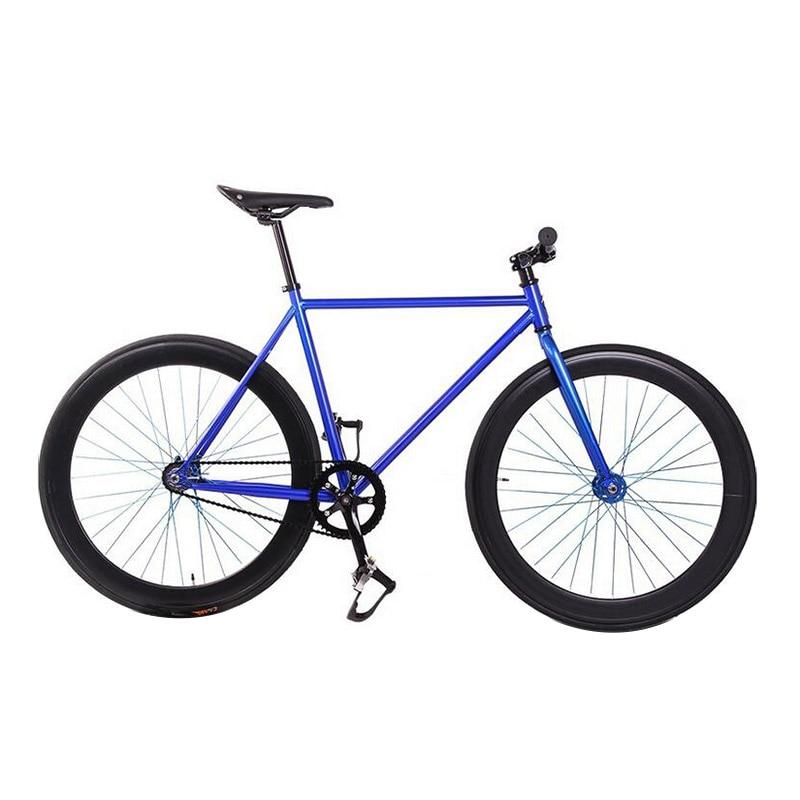Fixie Bike Bicycle DIY 700C Retro Steel 52cm 48cm Frame Fixed Gear Bike Vintage Steel Frame Fixie Track Bike