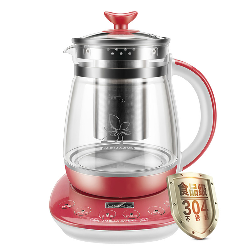Electric kettle Raise the body pot multi-function fully automatic thickening glass electric to boil 1.5L litre fruit tea flower цена
