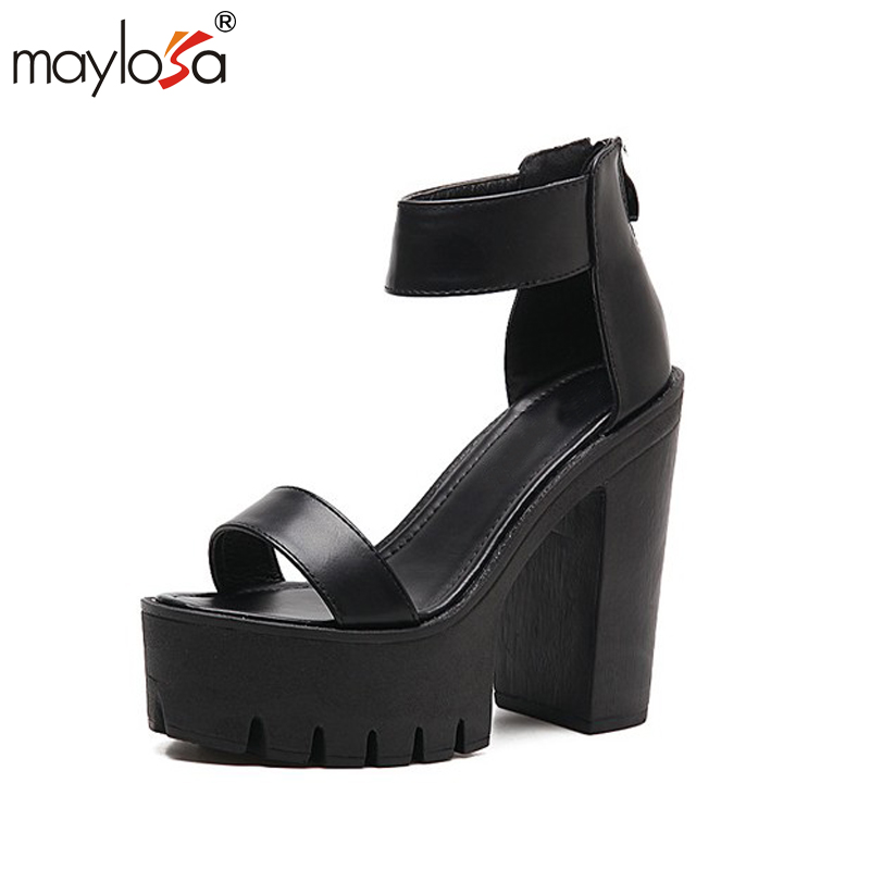 MAYLOSA Summer Women Sandals Platform New Brand Fisherman Open Toe Fashion Summer Shoes Woman Ankle