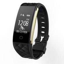 Новинка 2017 года S2 Smart Браслет Heart Rate Мониторы удаленного Bluetooth Smart Браслет Шагомер Фитнес сна SmartBand напоминание