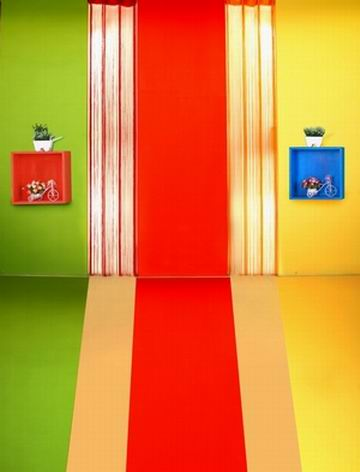 Kid Vinyl Background Children Colourful Gate Scenery Backdrop Photo Studio Photography Props Spray Painted Digital Printing Prop
