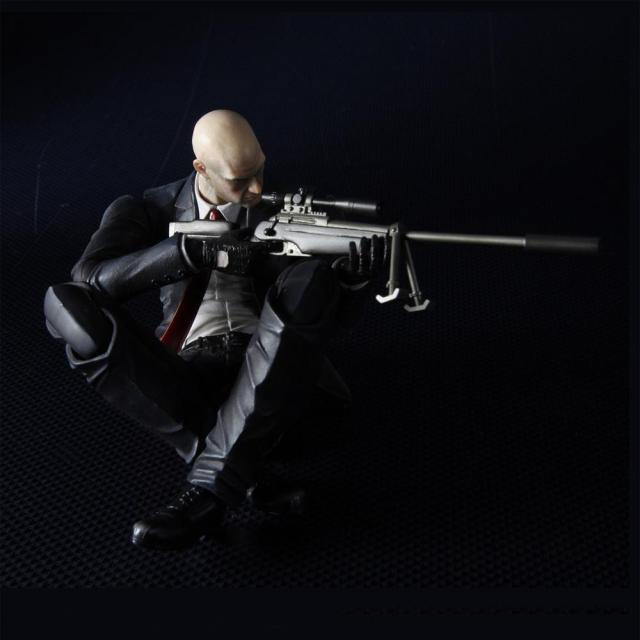 New 23cm Hitman Codename Killer 47 Play Arts Game PVC Action Figure Resin Collection Model Toy Gifts 26cm play arts super hero wolverine pvc action figure resin collection model toy christmas gifts