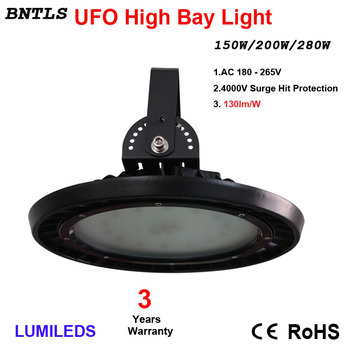 150W UFO LED, High Bay Lighting, Industrial Chandelier, Commercial Industrial Lamp Warehouse, Wall Lights, Daylight White 6000K,
