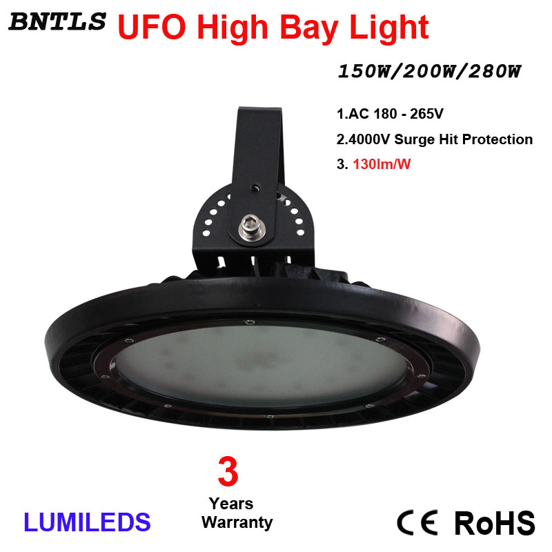 250W UFO LED, High Bay Lighting, Industrial Chandelier, Commercial Industrial Lamp Warehouse, Wall Lights, Daylight White 6000K,