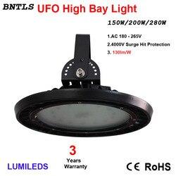 250W UFO LED, campana montaje alto iluminación, lámpara Industrial, lámpara comercial Industrial almacén, luces de pared, blanco luz diurna 6000 K,