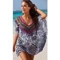 Supernova Sales Leopard Bat Sleeve Chiffon Shirt Vetement Femme Woman Dress Casual Dress Boho Style Beach Outside Smock