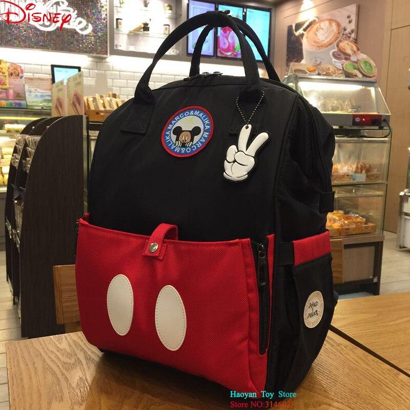 Disney Mickey Style Sac Classique Style Sacs à Couches Maman De Maternité Sac À Langer de Grande Capacité Bébé Voyage Backpacke Bébé Sac À Couches