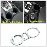 HIGH FLYING Interior Water Cup Ashtray Cover Trim ABS Chrome 1 Piece For Peugeot 3008 2009 2010 2012 2013 2014 2015