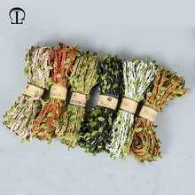 2019 nuevo 5M DIY llegada cuerda de hoja Natural yute arpillera cuerda de arpillera cinta DIY artesanía Vintage para decoración de fiesta de boda en casa