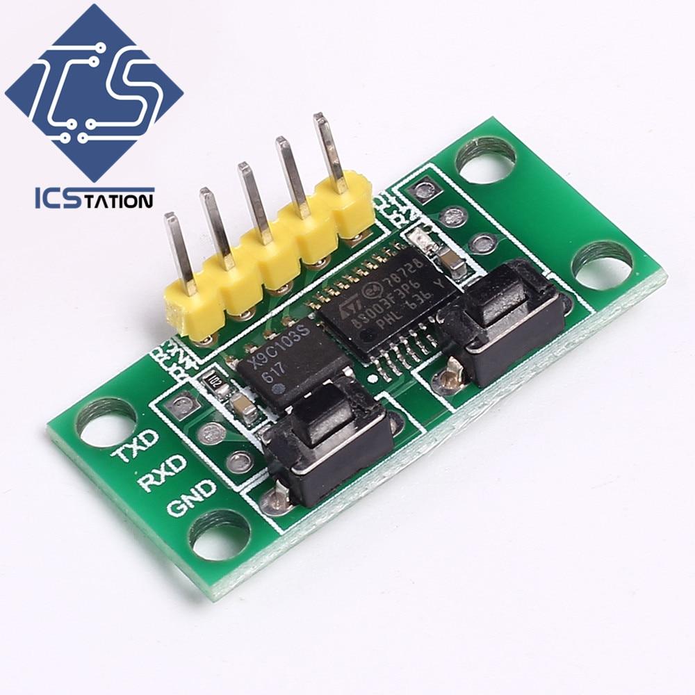 X9C103S Digital Potentiometer Board Module DC 3-5V 10K Full-Range Potentiometer for Arduino Supporting Computer Serial Control fast free ship for gameduino for arduino game vga game development board fpga with serial port verilog code