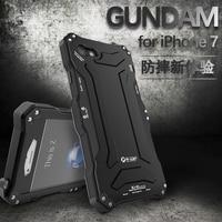 Original R Just Metal Case For IPhone 7 7 Plus Gundam Armor Luxury Three Proof Phone