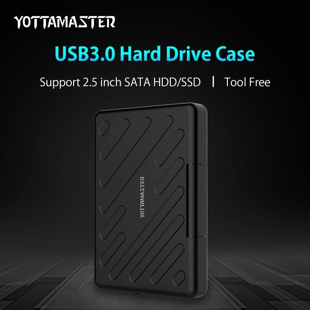 YOTTAMASTER USB 3.0 HDD External Enclosure Safety Waterproof HDD Harddisk Box Serial Port SATA Tool Free HDD Case 2.5 Inch