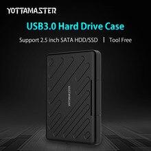 YOTTAMASTER 2.5 Inch USB 3.0 HDD External Enclosure Safety Waterproof HDD Harddisk Box SATA Tool Free HDD Case