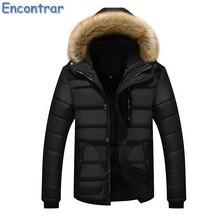 Encontrar 2017 New Men Padded Parka Winter Plus Size 5XL Warm Coat Men Thick Parkas With Fur Collar Fashion Coat Mens ,QA381