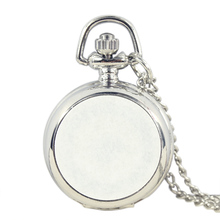 10pcs DIY Silver Children Women Lovely Pocket Pandent Watch with Chain Fob Watches Girl Lady Child Quartz Pocket Watch reward