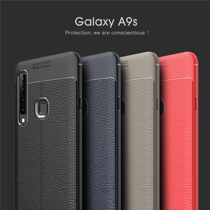 A9s Cover Case For Samsung Galaxy A9 2018 Case Luxury Imitation Leather Soft Silicone Cover Fundas For For Samsung A9 2018 A9S