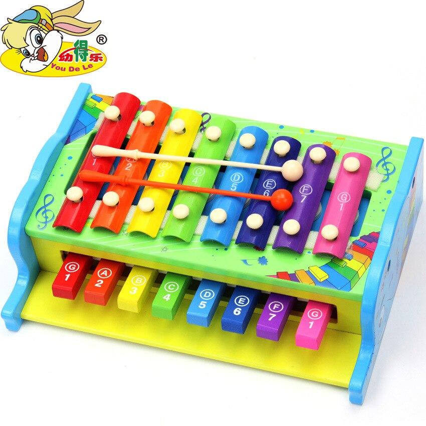 En bois multifonctionnel main frapper une harpe, jouets Instruments de Musique, le développement de l'intelligence des Enfants l'éducation jouets