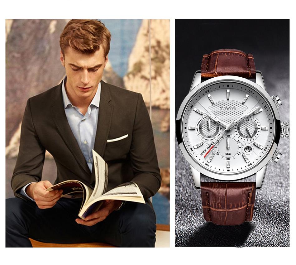 HTB1Vf HVkzoK1RjSZFlq6yi4VXaD LIGE 2020 New Watch Men Fashion Sport Quartz Clock Mens Watches Brand Luxury Leather Business Waterproof Watch Relogio Masculino