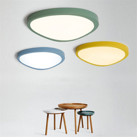 Ultra thin Creative Colored Circular LED Ceiling Lamp Children's Room Lighting Ceiling Lights Kindergarten Exhibition Hall Lamp