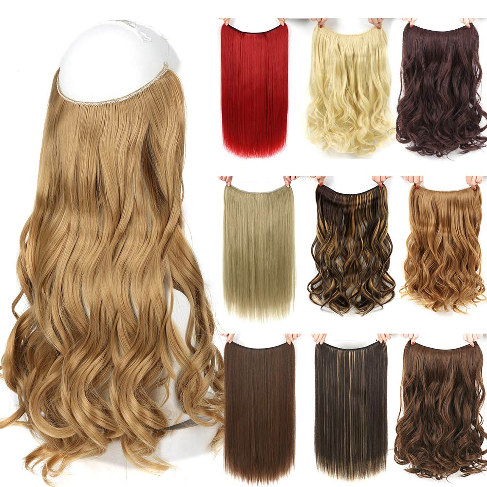 "22"" long blonde invisible wire"