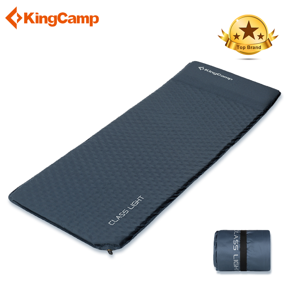 KingCamp Self Inflating Camping Mat Ultralight Mattress Durable Oxford PVC Sleeping Pad for Camping Hiking 183 x 51 x 2.5 cm цены онлайн