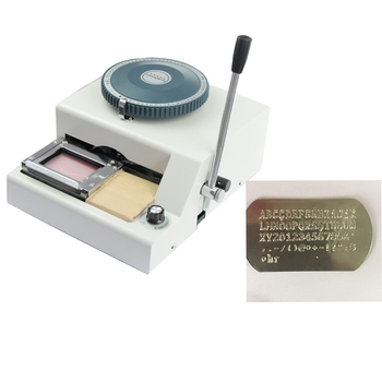 Hot Sale Cheap Price Small Size Serial Number Metal Embossing Machine For Dog Tags