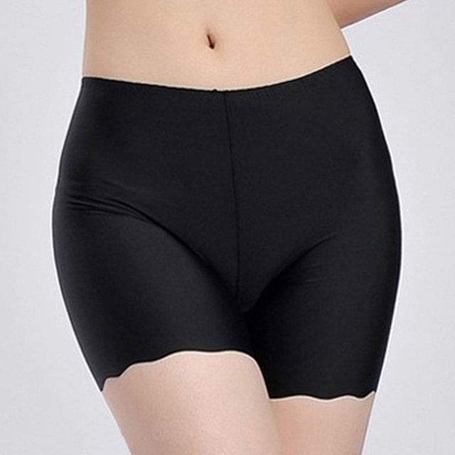 f0fe237bb5f Comfortable Plus Size Invisible Woman Pants Ladies Bamboo Boxer Shorts  Summer Safe Seamless Pants Boyshort Underwear for Women