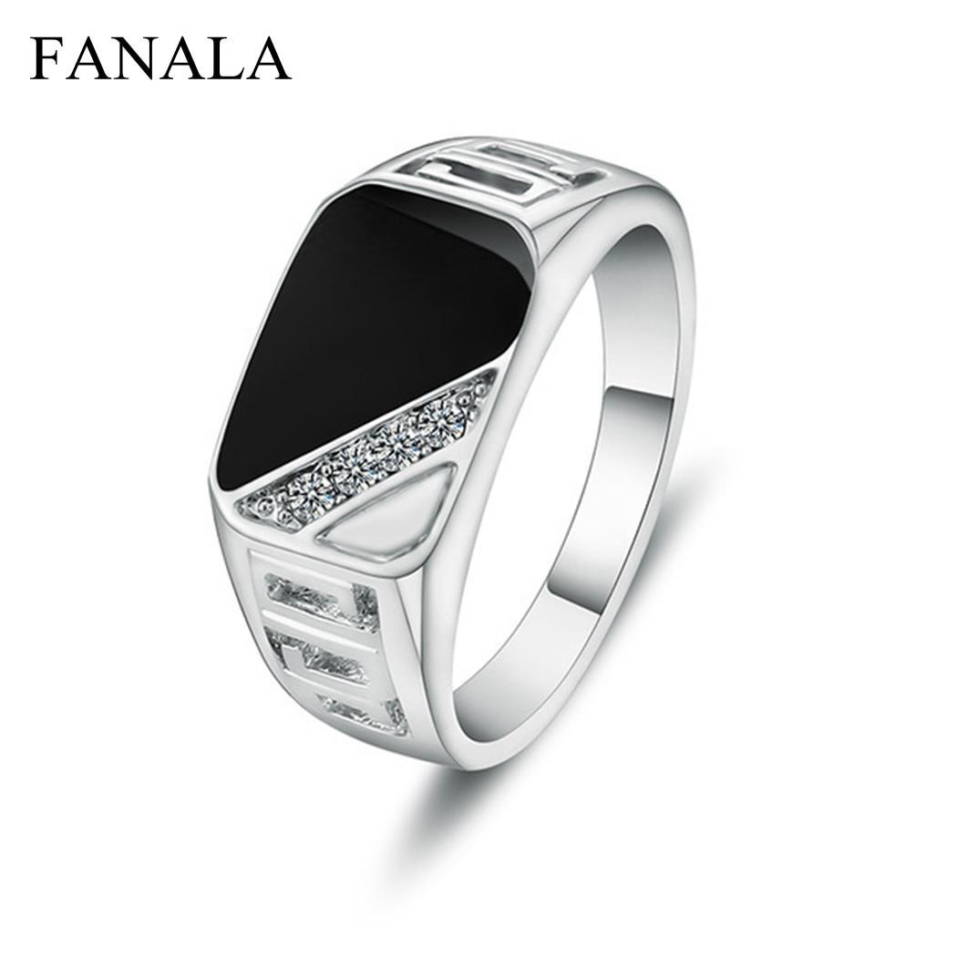FANALA Rings Men Fashion Jewelrs
