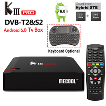 DVB-T2 DVB-S2 KIII Pro Android 6.0 TV Box 3GB/16GB Amlogic S912 Octa core 2.4G/5G Dual WiFi BT4.0 1000M H.264 4k Media Player