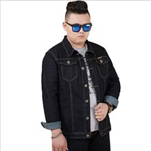 Mens Spring Autumn Black Jeans Jacket Plus Size Jacket Jeans for Big Men Oversized Denim Jackets and Coats Man M-5XL 6XL 7XL 8XL
